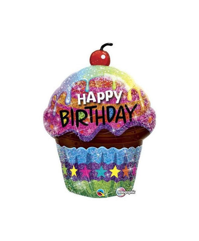 Cupcake Party Decorations, Happy Birthday Balloon, Cupcake Party Theme, Cupcake Decor, Birthday Cupcake Party, Birthday Party Ideas