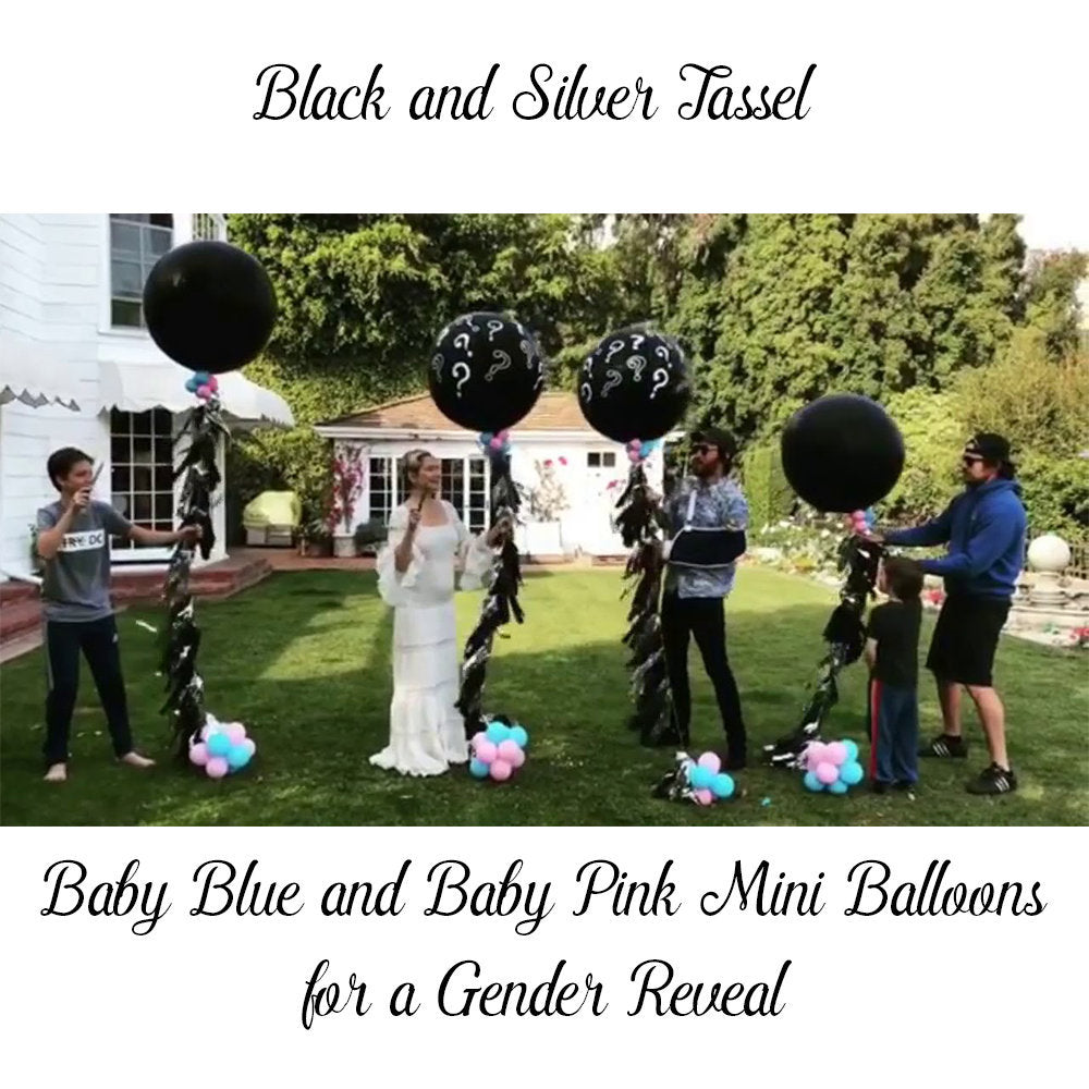 Kate Hudson Gender Reveal Balloon Ready to Ship, Question Mark Balloon, Gender Reveal Balloon, Kate Hudson Gender Reveal Balloon, Black