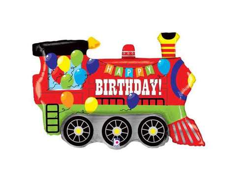 Train Balloon, Happy Birthday Train Shape Balloon, Train Birthday Party, Train Balloon, Train Party Decorations, Train Party, Train Decor