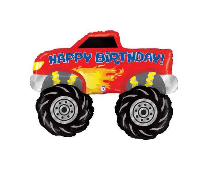 Monster Truck Balloon Decorations for a  Birthday Party- Kids Truck Party Decor