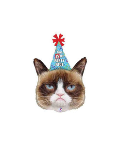 Grumpy Cat Balloon for a Birthday. Kitty Cat Party Decor