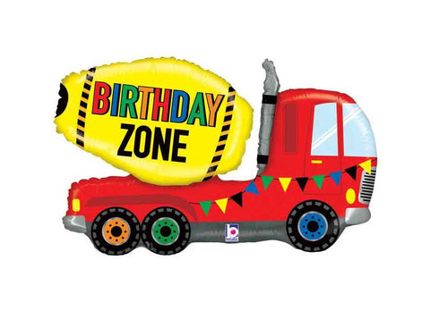Cement Mixer Truck Balloon, Construction Zone Birthday Party Decorations