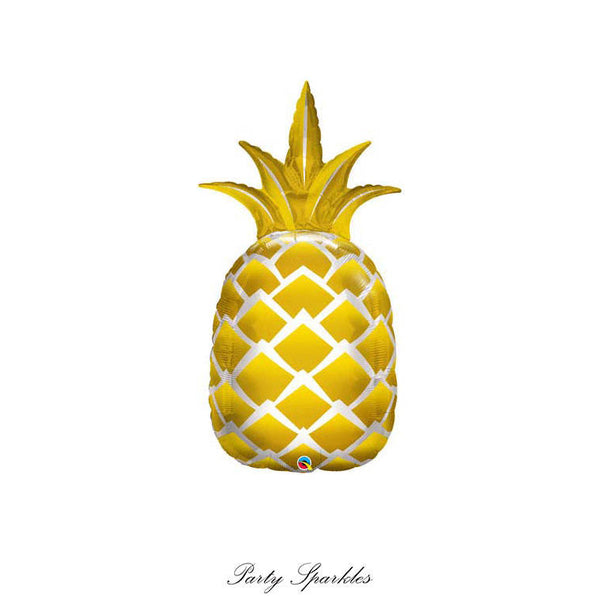 Golden Pineapple Balloon, Pineapple Decor, Pineapple Balloons, Pineapple Party Decor, Summer Party Decorations, Pineapple Party, Gold Party