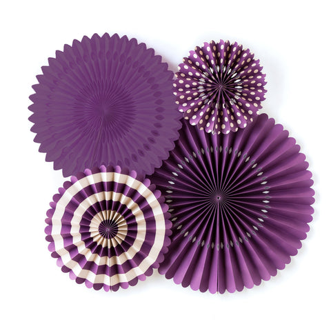 Purple Rosettes, Purple fans, backdrop birthday, Purple rosettes birthday, rosettes party, Purple Party decor, Purple Party decor