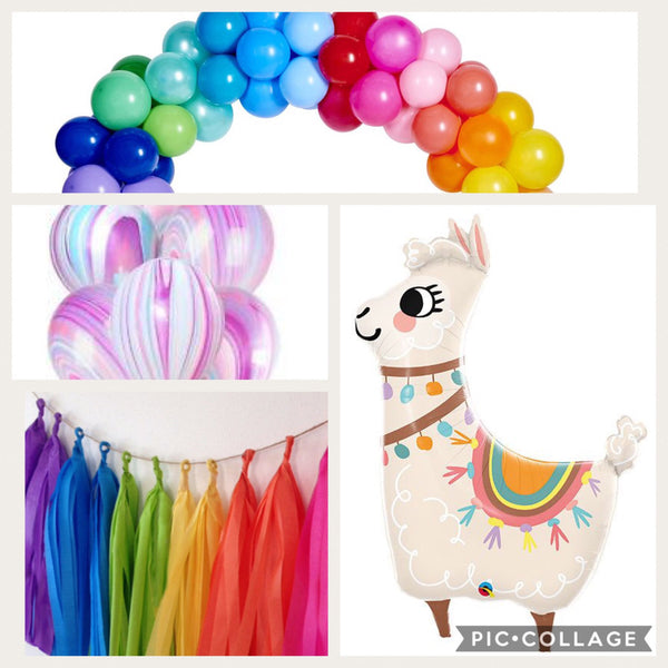 Llama Party Balloon, Balloon Garland Rainbow for a kids birthday decor, No Drama Llama supplies, Baby Shower Decorations, Animal Party gift