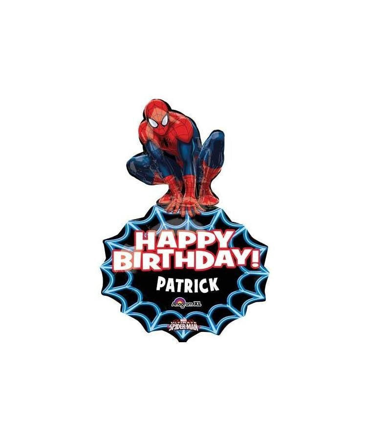 Spiderman Birthday Balloon- A Personalized Super Hero Party Custom Name Balloon