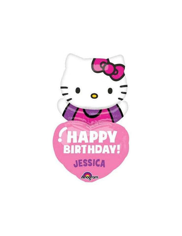 Personalized Hello Kitty Balloon, Hello Kitty Birthday Party Balloon, Custom Hello Kitty Balloon, Hello KittyBalloon, Hello Kitty Party