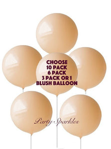 "BLUSH Balloons HUGE Round Giant Balloons 10,6, 3 or 1 Pack 36"" , Party Decor, Wedding Balloon, Baby Shower Decor Backdrop Photo Shoot, gold"