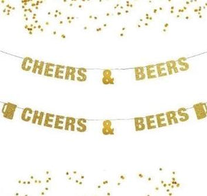 Cheers and Beers Banner, News Year to 30, 40,  50 Years Banner, New Years Eve Decoration Party Decor, Wedding Beer Lover, Anniversary Ideas