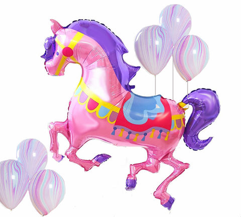 Carousel Horse Balloon, Horse Balloon, Carousel Party, Carousel Backdrop Balloon, Carousel, Horse Girl's Birthday Party