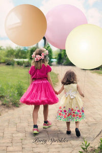 "Blush Balloons Round, Huge Giant 36"" Baby Photo Shoot - Baby Pink, Ivory and Gold Bridal Photo Shoot - Birthday Decoration, Wedding Balloons"