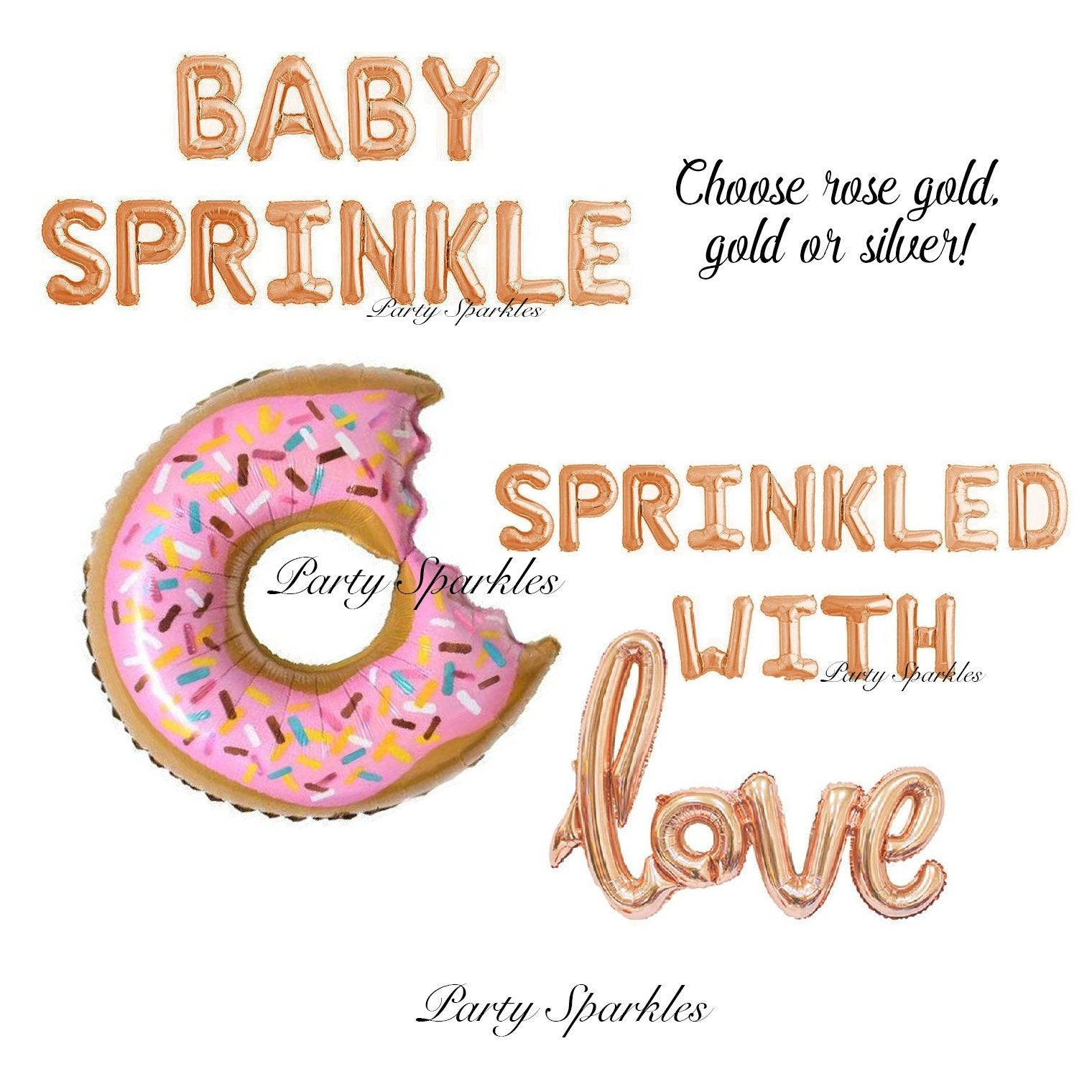 Sprinkle Party Balloon Decorations, Baby Sprinkle, Sprinkled with Love