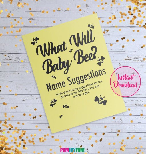 What Will Baby Bee? Cake Topper, Gender Reveal Bee Theme Topper, Gender reveal ideas, What Will It Bee Party Decorations, Bee Theme Shower
