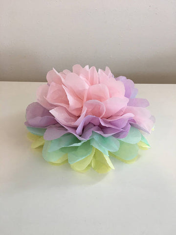 Unicorn Pom Poms  Party Centerpiece,  Wall or Cake Topper Decoration for Birthday Party Decor Baby Shower Surprise Party Decor Pastel pom