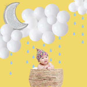 Cloud Balloon Arch Kit - A Cloud Balloon for a Baby Shower Decorations, Weather Party, Rain Baby Shower