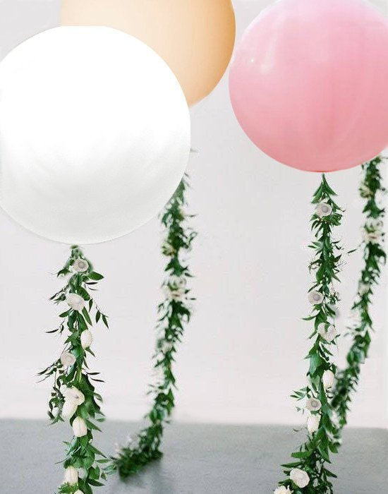 Vine Balloon, Balloon flower garland with 36 inch balloon, Wedding Vine, First Birthday Photo Prop, Baby Shower Photo Shoot, Vine Tail