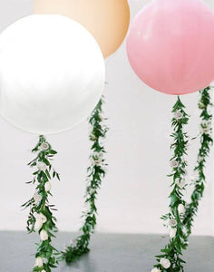 Vine Balloon Flower Garland with 36 inch Balloon Choose Your Color Balloon