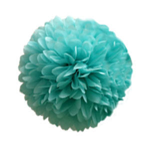 Tissue Pom Poms Set set of 5 Breakfast at Tiffany and Co Decorations in  aqua blue and white