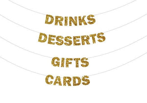 Drinks Banner, Banner Desserts, Gifts Banner, Cards Banner, Drinks Glitter Banner, Party Banners, Hostess Banners, Holiday Party Banners