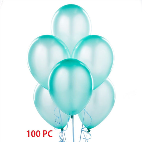 Aqua Blue Balloons Latex Balloons 100 Aqua Color Balloons for your Party, Wedding, Baby Shower