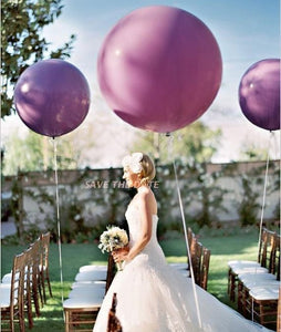 "36"" Lavender Balloons, Lavender Purple HUGE Round Latex Balloons, Qualatex Lavender Big Balloon or Purple Balloon"