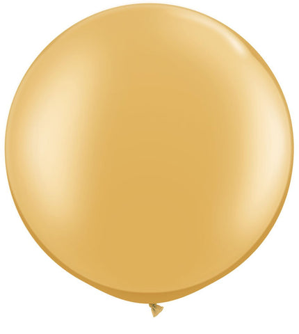 "36"" Gold Balloons, HUGE Round Latex Balloons, Gold Beautiful balloon, Qualatex Round Balloon"