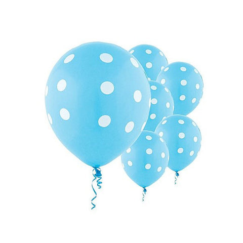 Light Blue Polka Dot Balloons, Polka Dot Balloons Wedding, Birthday Parties, Baby Showers Balloons, Gender Reveal Balloons