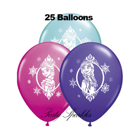 25 Frozen Birthday Balloon | Anna and Elsa Balloons | Disney Frozen Birthday, Disney Princess Decor, Party Decor, Birthday Party