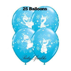 SALE 25 Frozen Birthday Balloon, Olaf  Balloons, Disney Frozen Birthday, Party Decor, Birthday Party | Frozen's Olaf
