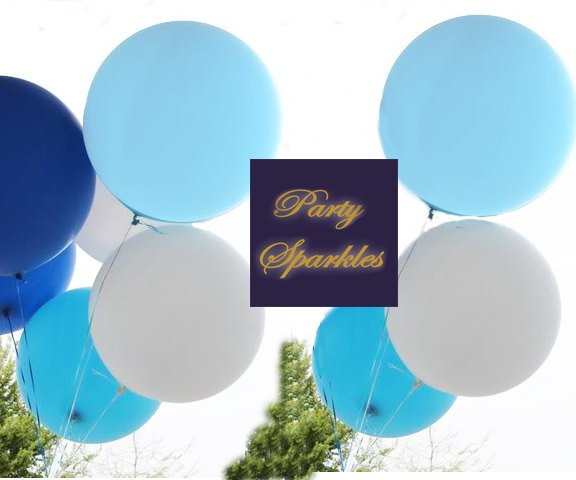 "36"" Pastel Blue Balloons HUGE Balloons Light Blue Round Giant Balloon, Baby Blue Balloon, Gender Reveal Party decor"