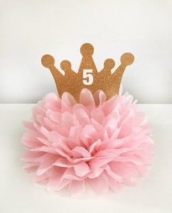 Princess Crown Centerpiece and Cake Topper Decoration