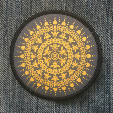 Bee Mandala - Patch - Fox & Fir Design