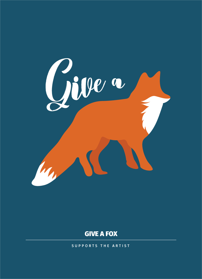 Give a Fox - 5x7 Archival Print