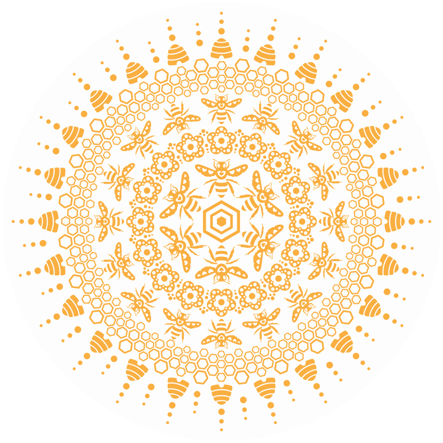 Bee Mandala Clear Sticker - Fox & Fir Design