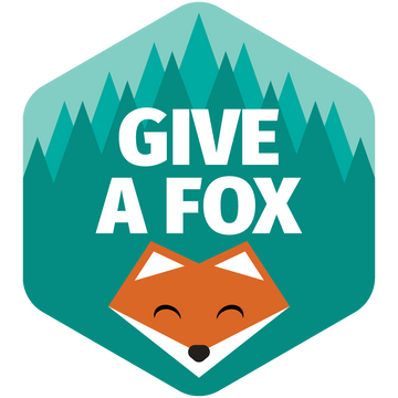 Give a Fox - Sticker - Fox & Fir Design