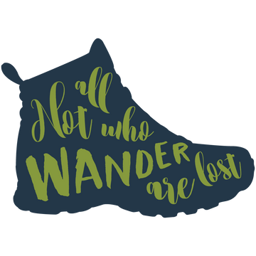 CLEARANCE! Wander Boot Sticker - Fox & Fir Design