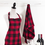 Buffalo Plaid Apron Red and Black Holiday Entertaining