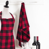 Buffalo Plaid Tea Towel Red and Black