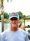 Baseball Hat for Dad - Pigment Dyed Trucker Cap - Black or Blue - Man Myth Legend