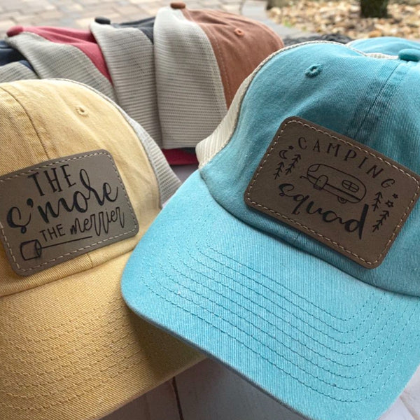 Company Twenty Six Camping Cap Ladies Laser Engraved Patch