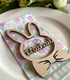Easter place card boy basket tag personalized