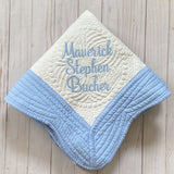 personalized baby blanket embroidered
