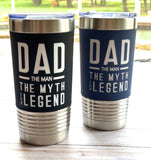 Stainless tumbler travel mug for Dad Father's Day gift