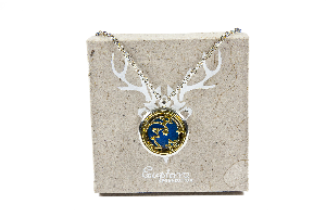 Moon and Stars Glow-in-the-Dark Locket Pendant