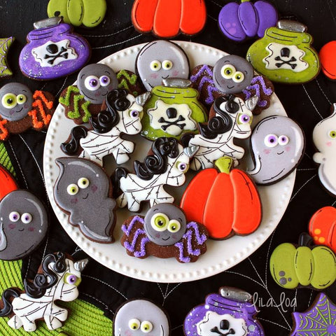 Full Body Halloween Zombie Unicorn Cookies by Lilaloa