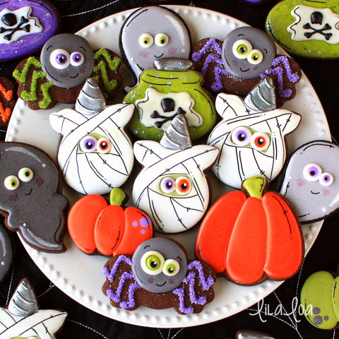 Cute Unicorn Zombie Head Cookies by Lilaloa
