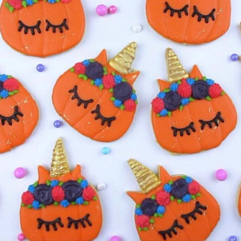 Unicorn Pumpkin Cookies by Yes Please Delicious Delights