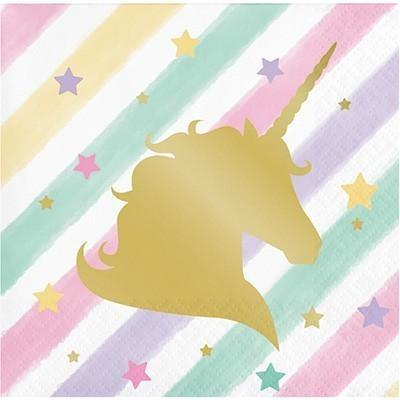 Unicorn Sparkle Beverage Napkins - Finding Unicorns