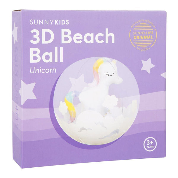 3D Inflatable Unicorn Beach Ball - Finding Unicorns