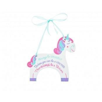 Fair Trade Wooden Unicorn Sign - Finding Unicorns